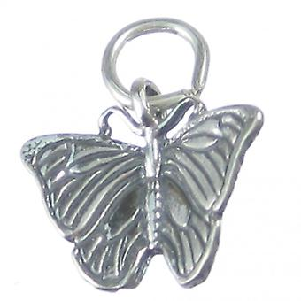 Morpho Butterfly Sterling Silver Charm .925 X1 Morphos Butterflies Charms - 3557