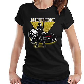 Knight Rider Michael Knight Yellow Glow Women's Camiseta