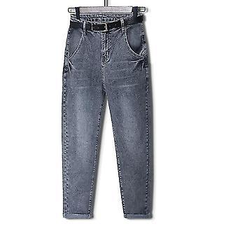 Jeans High Waist Plus Size, Full Length, Loose Denim Harem Pants