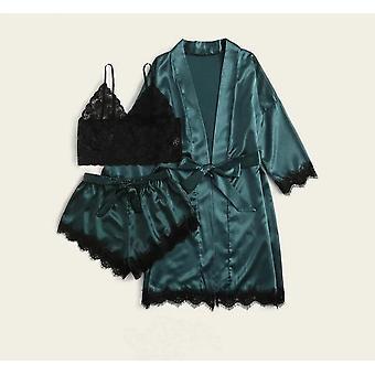 Set pigiama estivo, abito da notte in lingerie di pizzo floreale da donna