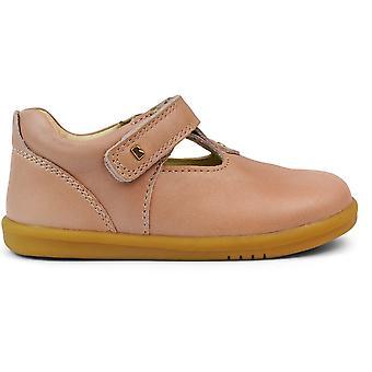 Bobux I-walk Girls Louise T-bar Shoes Dusk Pearl