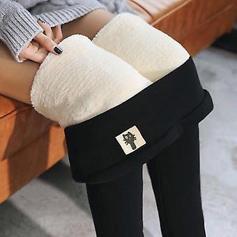 Frauen's Winter Leggings Knöchel-Länge Halten Sie warme solide Hose