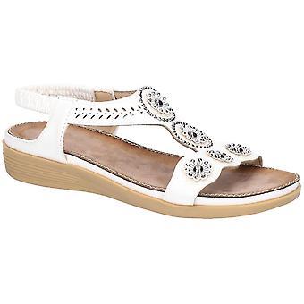 Fleet & Foster Caper Womens Ladies Flat Sandals White UK Size