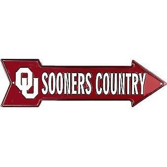 Oklahoma Sooners NCAA Sooners Country Arrow Sign