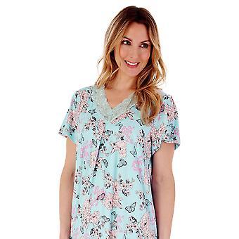 Slenderella Gaspe GL77701 Dames's Floral Nightdress