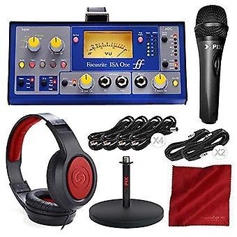 Focusrite isa one - mikrofonförförföramppaket med mikrofon + hörlurar + pro ljudkabelpaket