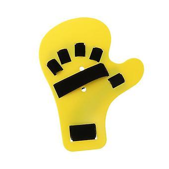 1Pc finger splint board stroke hand fracture fixation support brace for tendinitis sprain arthritis dislocation (yellow left han