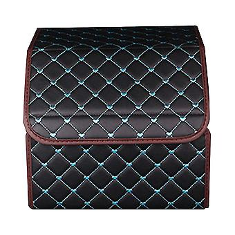 Faux Leather Heart Embroidery Foldable Car Storage Box