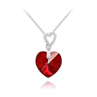 Rode hart swarovski kristal hanger ketting