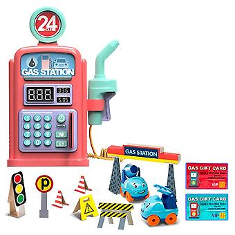 Gas Station,'s Simulation Talking Scene Model Toy With Sound, Light