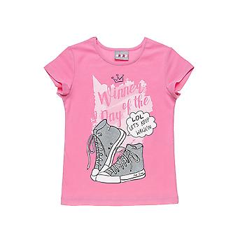 Alouette Girls' Blouse With Glitter Print