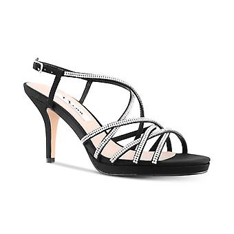Nina Womens Vilma Fabric Open Toe Special Occasion Strappy Sandals