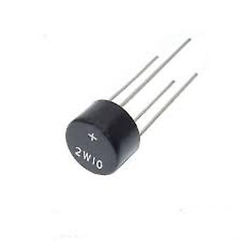 10pcs 2w10 2a 1000v Dip-4 Dip4二极管桥整流器