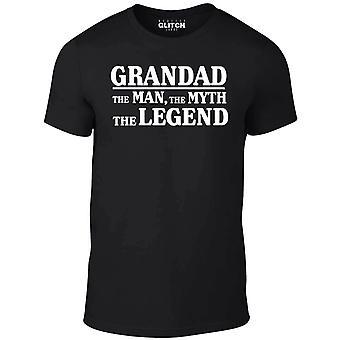 Reality glitch men's grandad, the man, the myth, the legend t-shirt