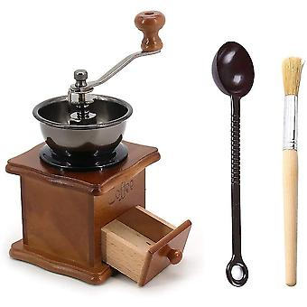 DZK Manual Coffee Grinder, Coffee Bean Grinders with Spoon & Cleaning Brush Coffee Maker for