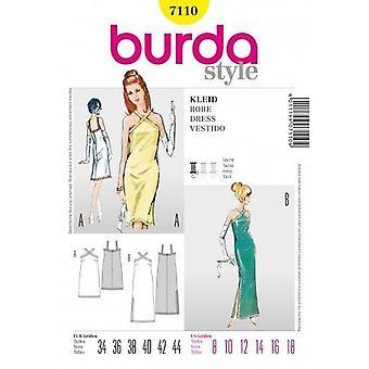 Burda Sewing Pattern 7110 Misses Vintage Dress Size 8-18