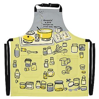 Blue q - droppin' a recipe cooking apron