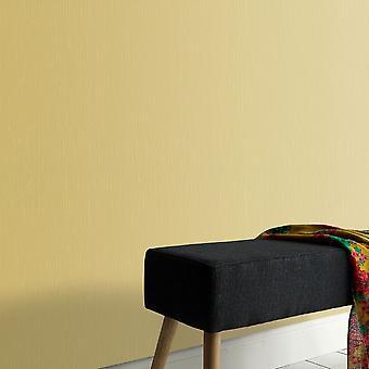 Elle Decoration Plain Textured Wallpaper Gold 1017120