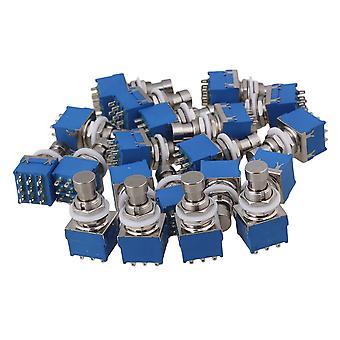 40 x Effekte Pedal 3PDT 9-Pin Fußschalter W/Lockwasher Nylon Schalter