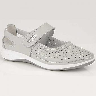 Boulevard Dorrit Ladies Action Leather Wide Fit Shoes Light Grey
