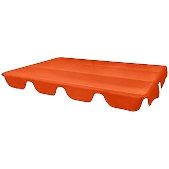 vidaXL Spare roof for garden swing Orange 226x186 cm