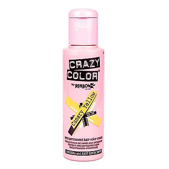 Crazy Color Semi Permanent HårFärg - Kanariegul 49