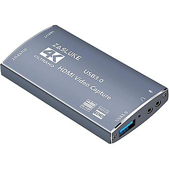 FengChun Game Capture Card, 4K 60FPS Durchgang HDMI Capture Card mit HDMI-Loop-Out, 4K 30FPS USB 3.0