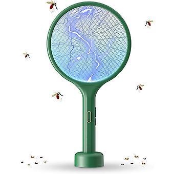 FengChun Elektrische Fliegenklatsche, 2 in 1 3500V USB Wiederaufladbarer Fliegenklatsche Elektrisch