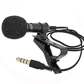 Mini Taşınabilir Mikrofon Kondenser Klipsli Yaka Lavalier Mikrofon Kablolu Evrensel