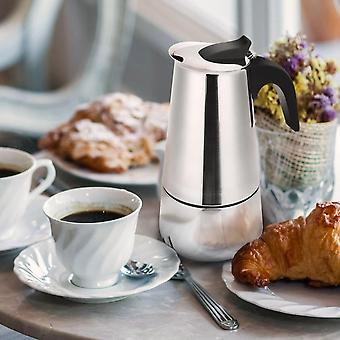 Coffee Maker 300ml/10oz/6 Cup Classic Cafe Maker 430 Stainless Steel Suitable For Induction Cookers