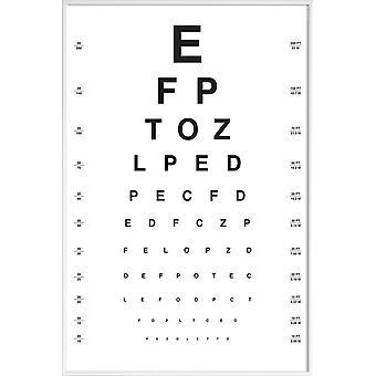 JUNIQE Print -  Eye Chart - Typografie & Symbole Poster in Schwarz & Weiß