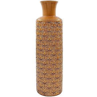 40cm Abeilles dorées Art Vase en céramique polie Ornement de table
