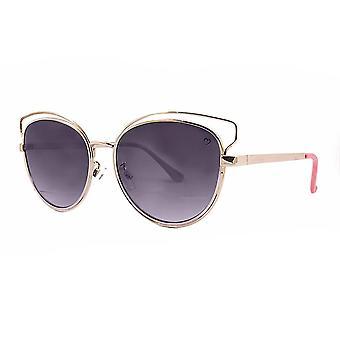 Ruby rocks metal santorini skeleton frame sunglasses in gold