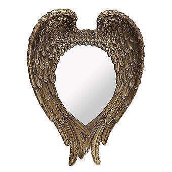 Antiikki kulta suojelusenkeli siipi seinä peili