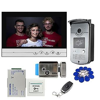 Wired 9 Inch Video Door Phone Intercom Entry System