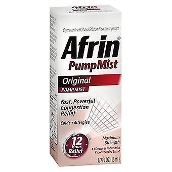 Afrin Afrin Original Nasal Decongestant Pump Mist, 0.5 Oz