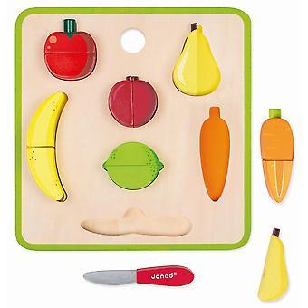 Conjunto de frutas y verduras gruesas del mercado verde de Janod