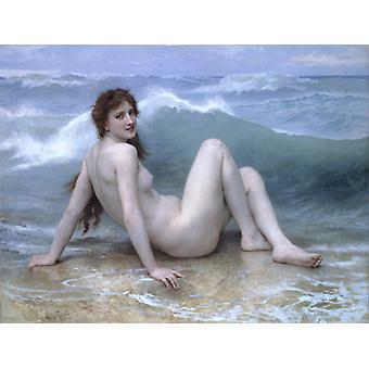 Wave Nude Girl Paintings,william-adolphe Bouguereau Art Reproduction.neoclassicism Modern Hd Art Print Poster,canvas Prints Wall Art For Home Decor Pi