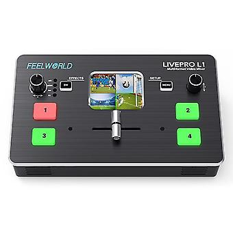 Multi Format Video Mixer Switcher 4xhdmi Inputs Camera Production Usb3.0 Live Streaming Youtube