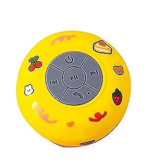 Impermeabile wireless Bluetooth piccola ventosa audio bagno Mini altoparlante universale (giallo)