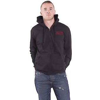Minor Threat Hoodie Out Of Step Band Logo new Official Mens Black Zipped