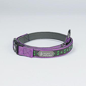 TUFFHOUND Haustier Hund Leine Nacht reflektierende Kragen, Größe: L 50-66cm(lila)