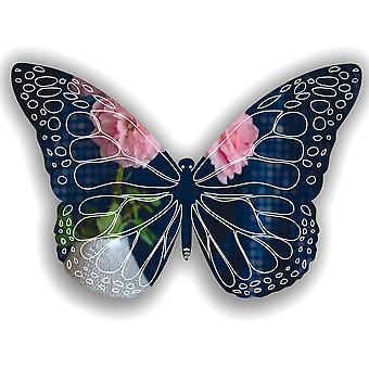 Detailed Engraved Butterfly Acrylic Mirror