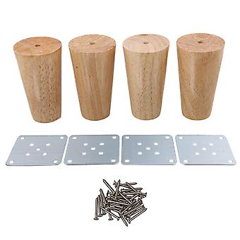 Tafelpoten 4x kegel houten meubelvoeten belasting 100kg voor kast 100x58x38mm