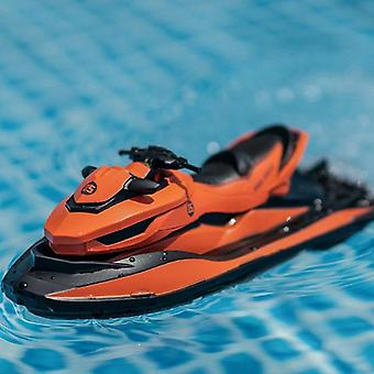RCtown M5 2.4G Mini Remote Control RC Boat(Orange)