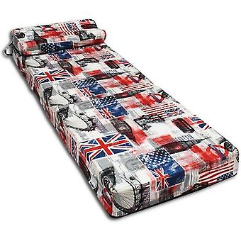 Makuupatja - retkeilypatja - matkapatja - taitettava patja - 70 x 200 x 15 tyynyllä LONTOO!