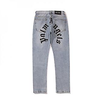 Palm Angels Rits Casual High Street Straight Couple Jeans voor mannen en vrouwen