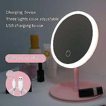 Peilit led meikki peili m007-1 USB varastointi led kasvot peili säädettävä kosketushimmennin led turhamaisuus peiliteline