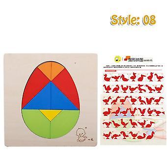子供の教育玩具, インタラクティブ学習ゲーム, 知性, テトリス, 木製パズル, 誕生日プレゼント-8