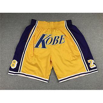 पुरुषों के खेल प्रशंसकों बास्केटबॉल सिटी खिलाड़ी उपहार जेब जाल शॉर्ट्स आरामदायक त्वरित सूखी लघु पैंट के साथ